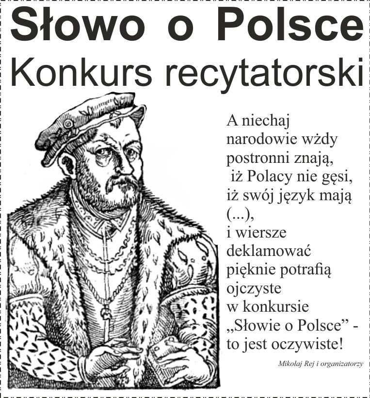 Zapraszamy Do Udziału W Konkursie Słowo O Polsce M Gckis