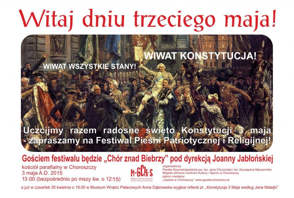 plakat 3 maja 2015 festiwal