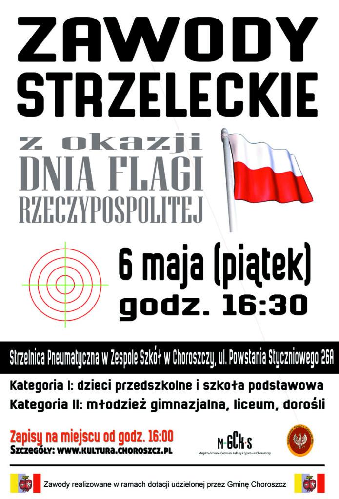 dzień flagi strzelanie plakat
