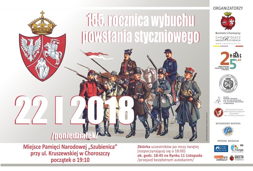 Choroszcz 2018 powstanie styczniowe plakat
