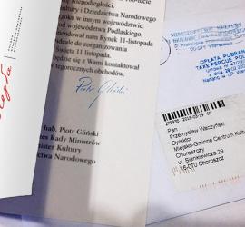 niepodległa list od ministra